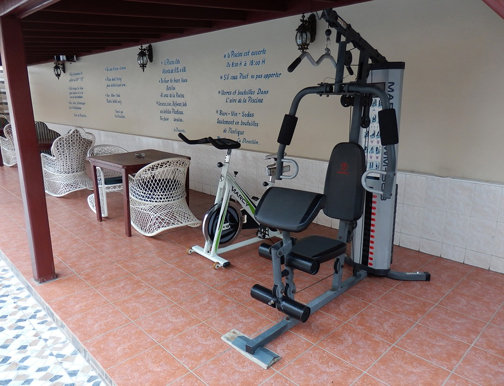 Fitness Area by the Pool